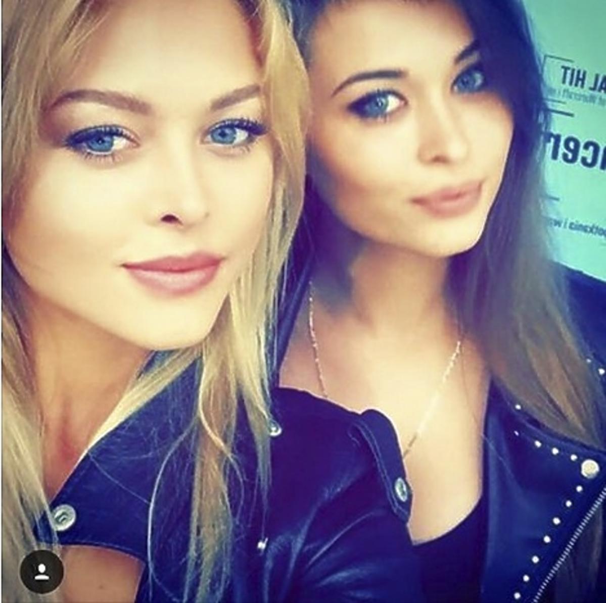 Joanna Opozda z siostrą