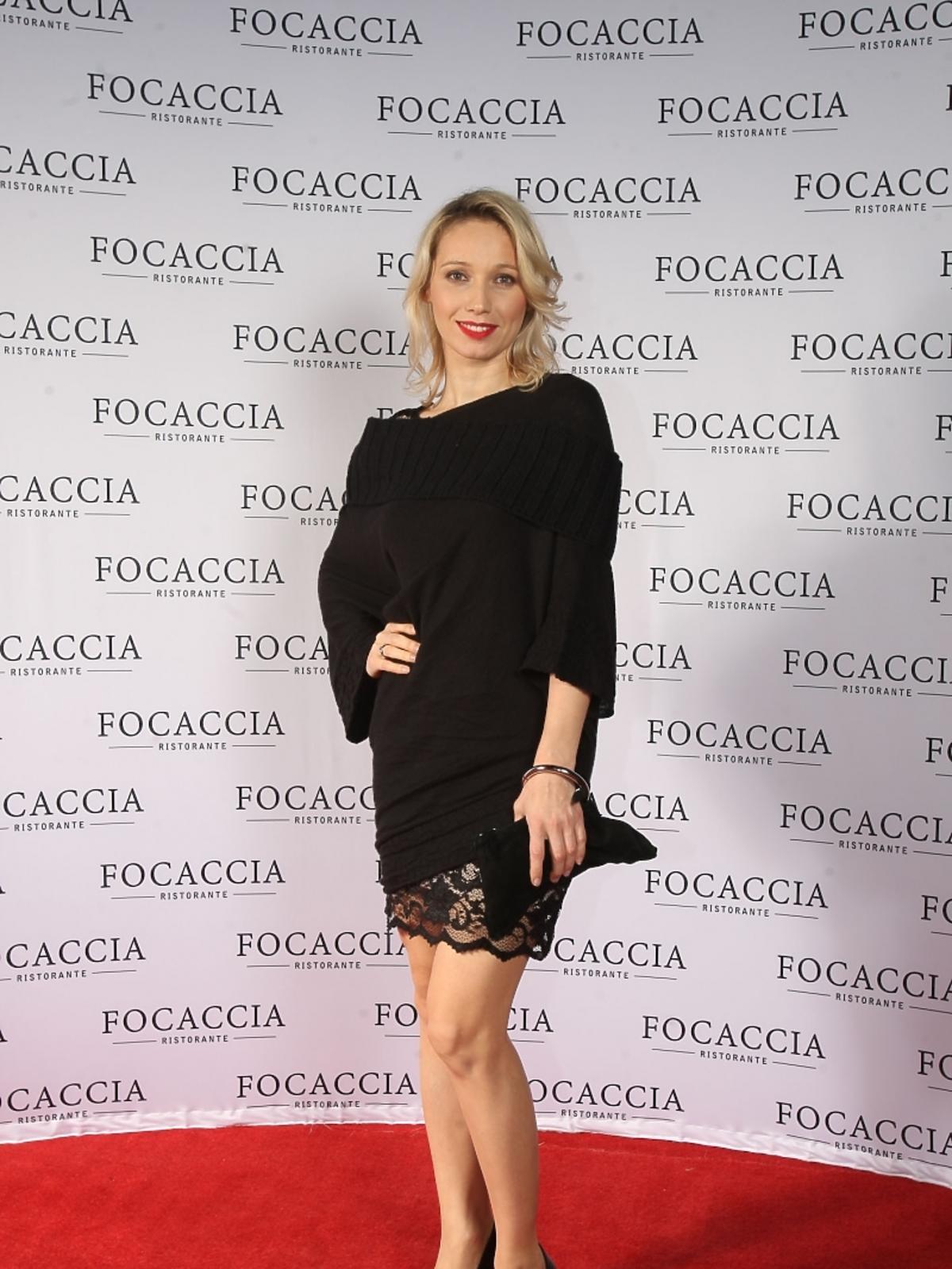 Joanna Orleańska na otwarciu restauracji Focaccia