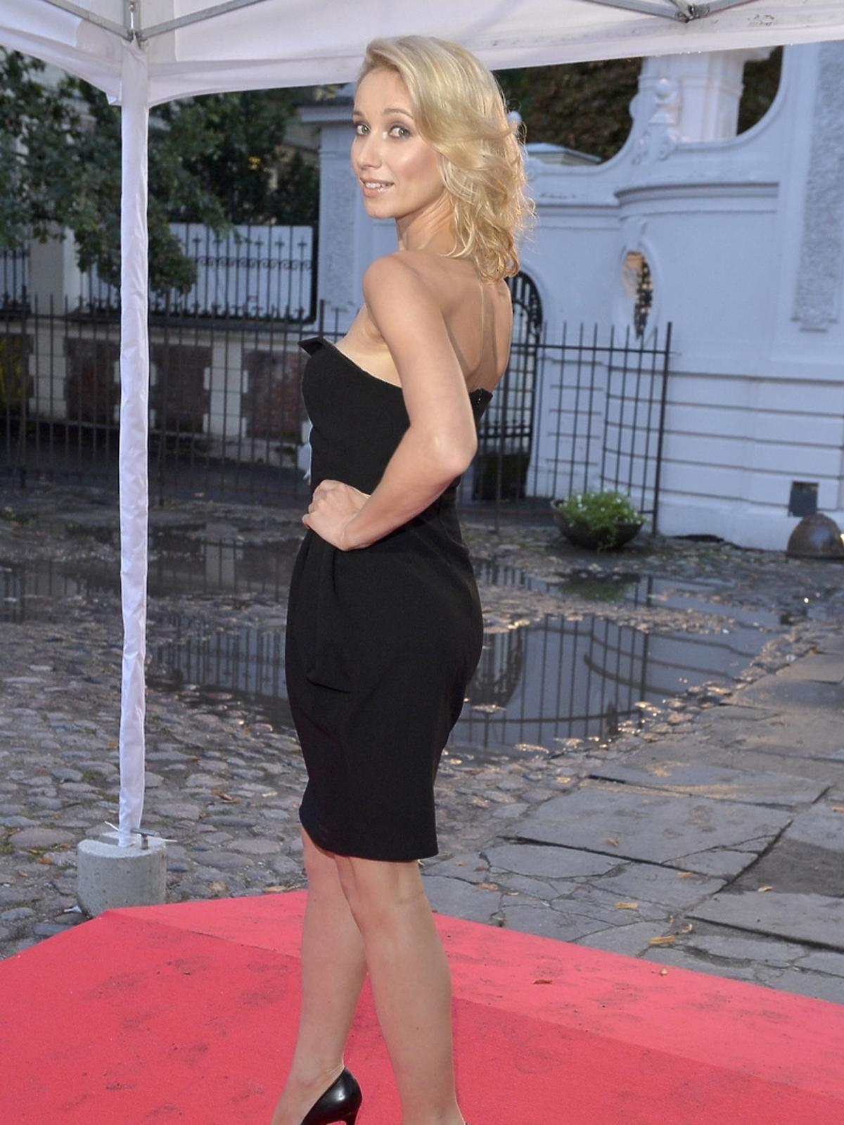 Joanna Orleańska na prezentacji ramówki Polsatu