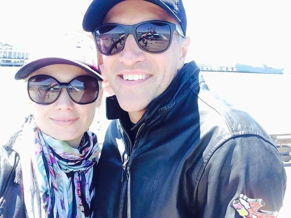 Joanna Orleańska z mężem Pawłem Orleańskim pozują do zdjęć w Los Angeles.