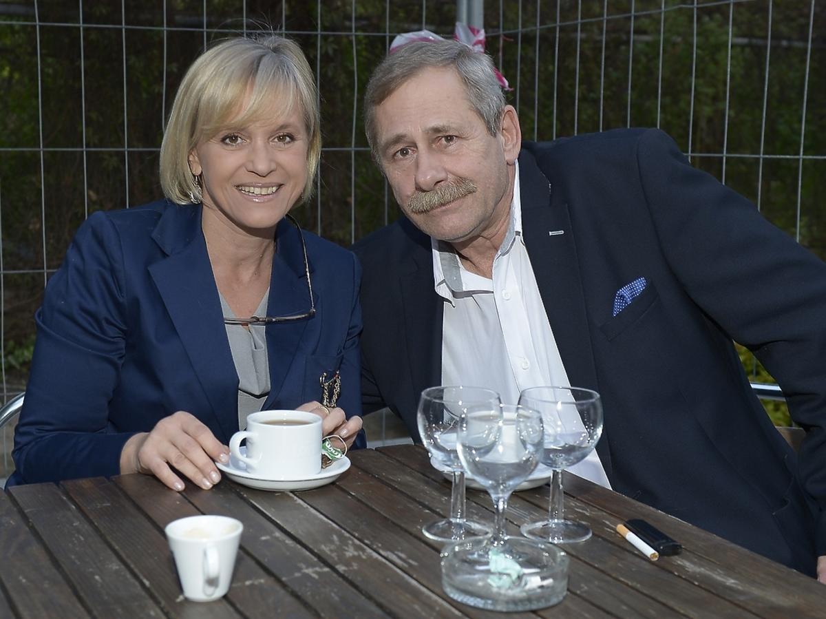 Joanna Pałucka i Andrzej Strzelecki na premierze spektaklu