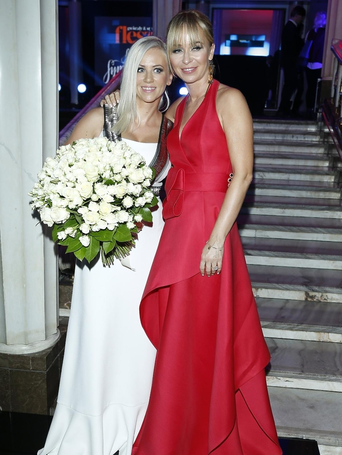 Joanna Przetakiewicz i Aneta Wikariak na imprezie Flesz Fashion Night