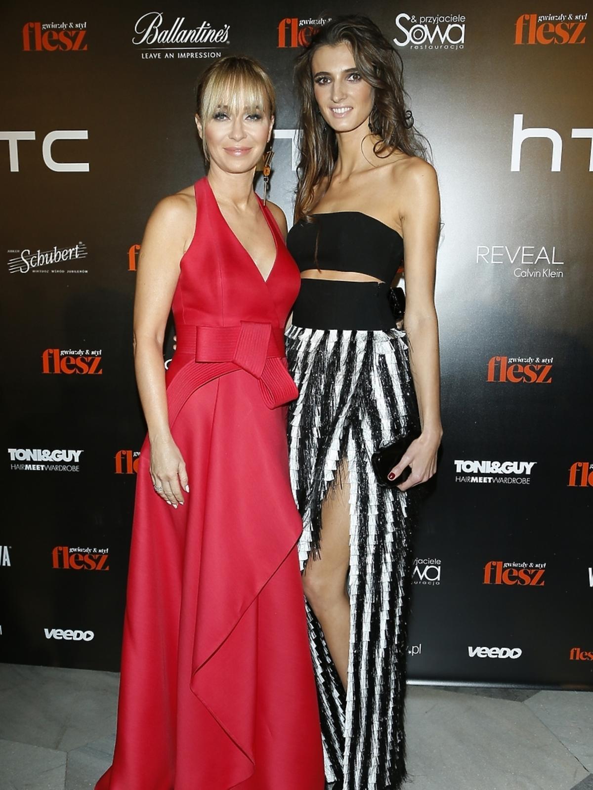 Joanna Przetakiewicz i Kamila Szczawińska na imprezie Flesz Fashion Night