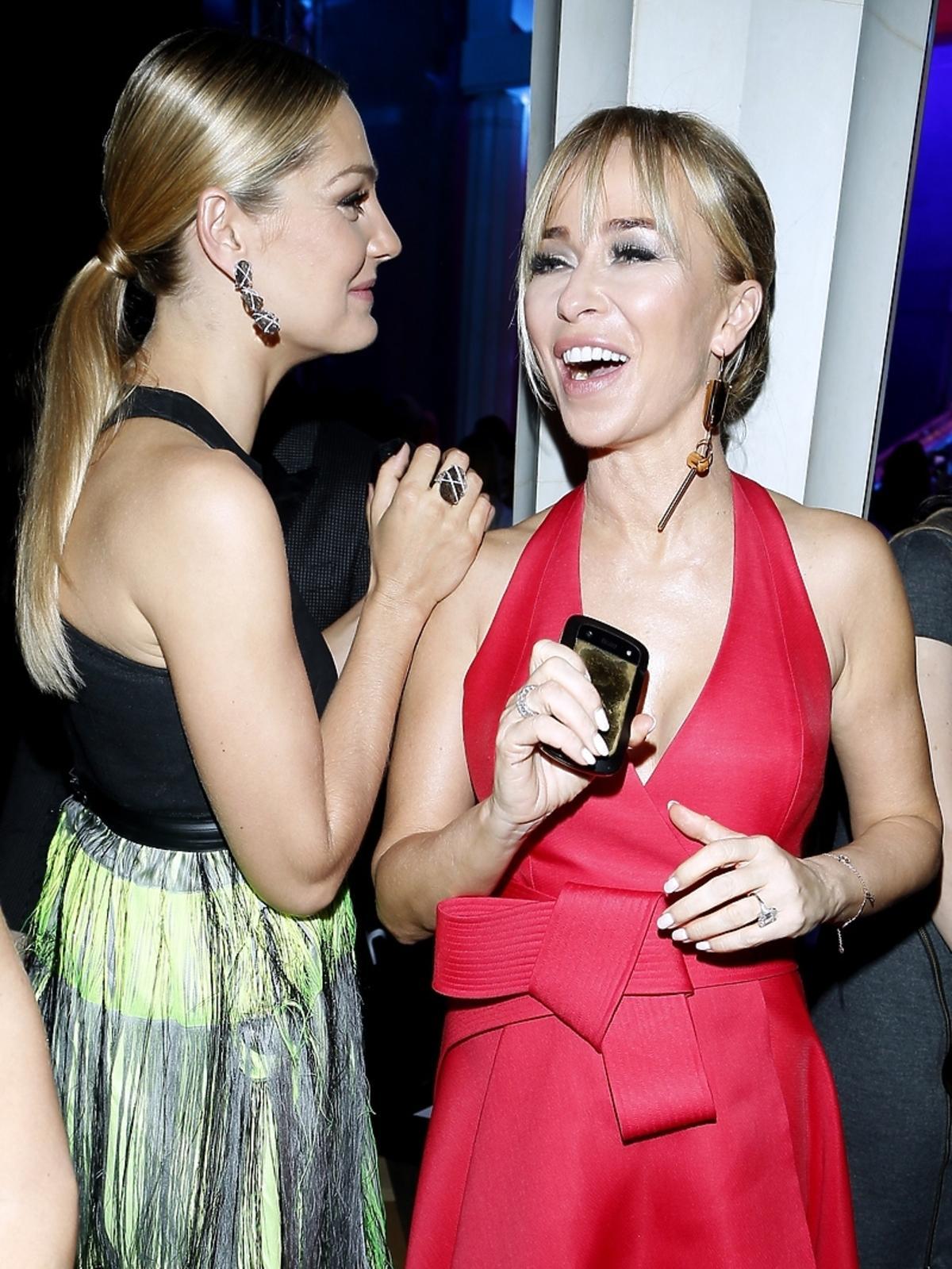 Joanna Przetakiewicz i Małgorzata Socha na imprezie Flesz Fashion Night