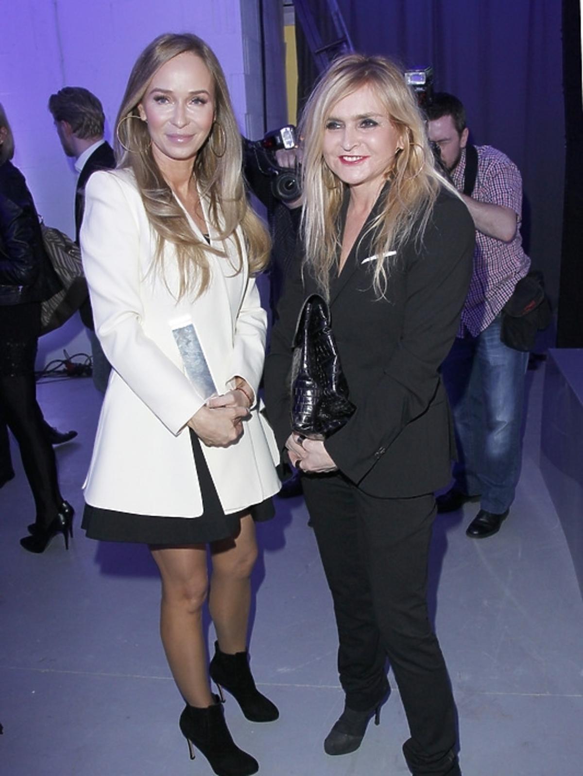Joanna Przetakiewicz i Monika Olejnik na gali Doskonałość Mody 2012