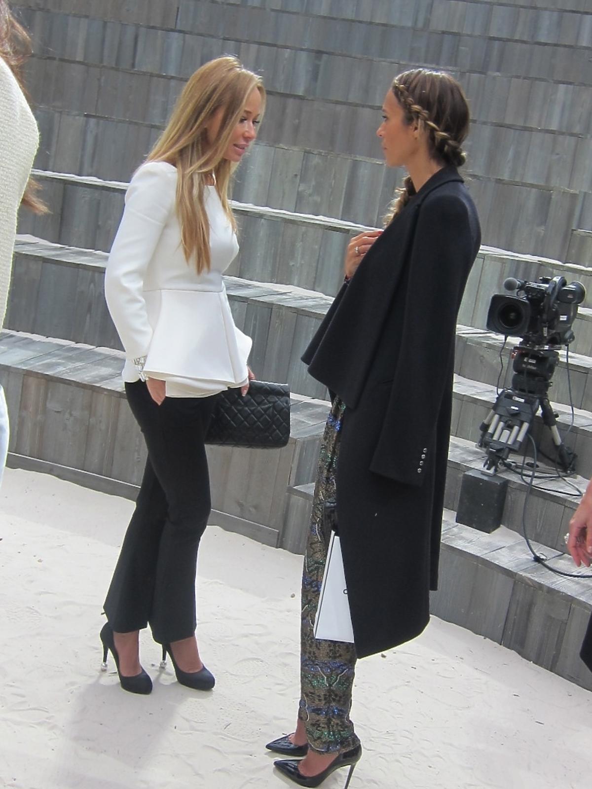 Joanna Przetakiewicz na pokazie Chanel Haute Couture wiosna/lato 2013