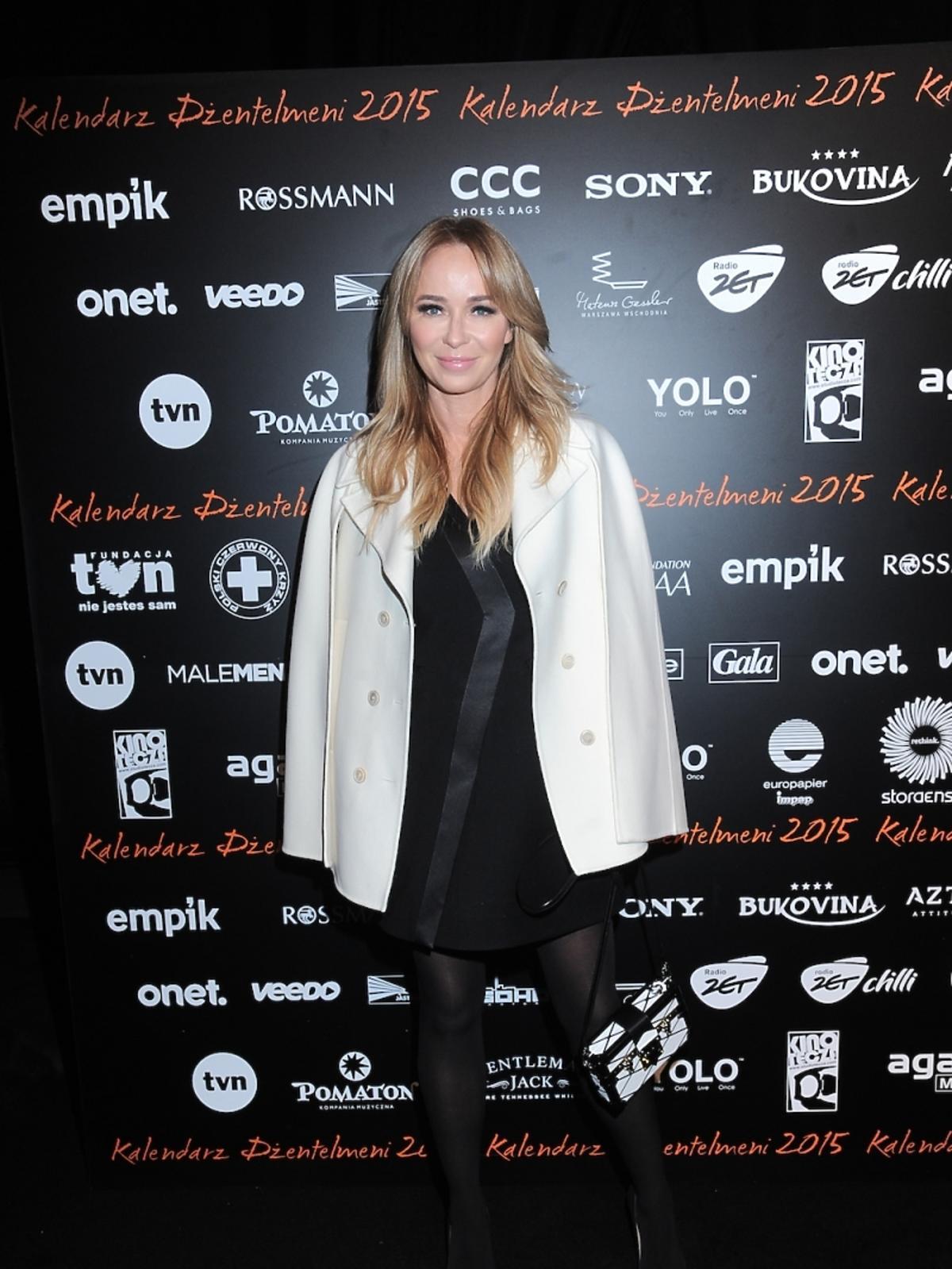 Joanna Przetakiewicz na premierze kalendarza Dżentelmeni 2015