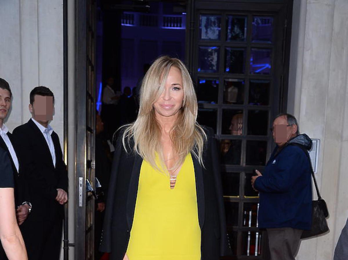 Joanna Przetakiewicz w żółtej sukni