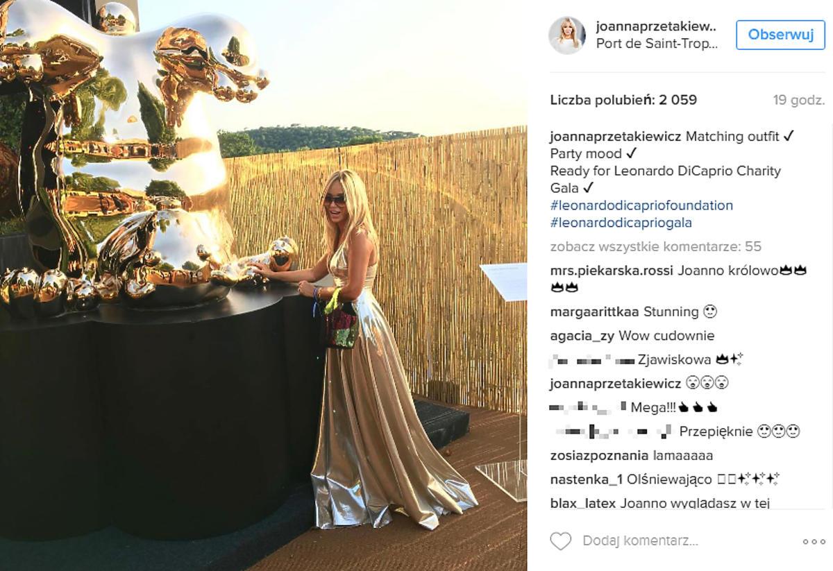 Joanna Prztakiewicz w metalicznej sukni