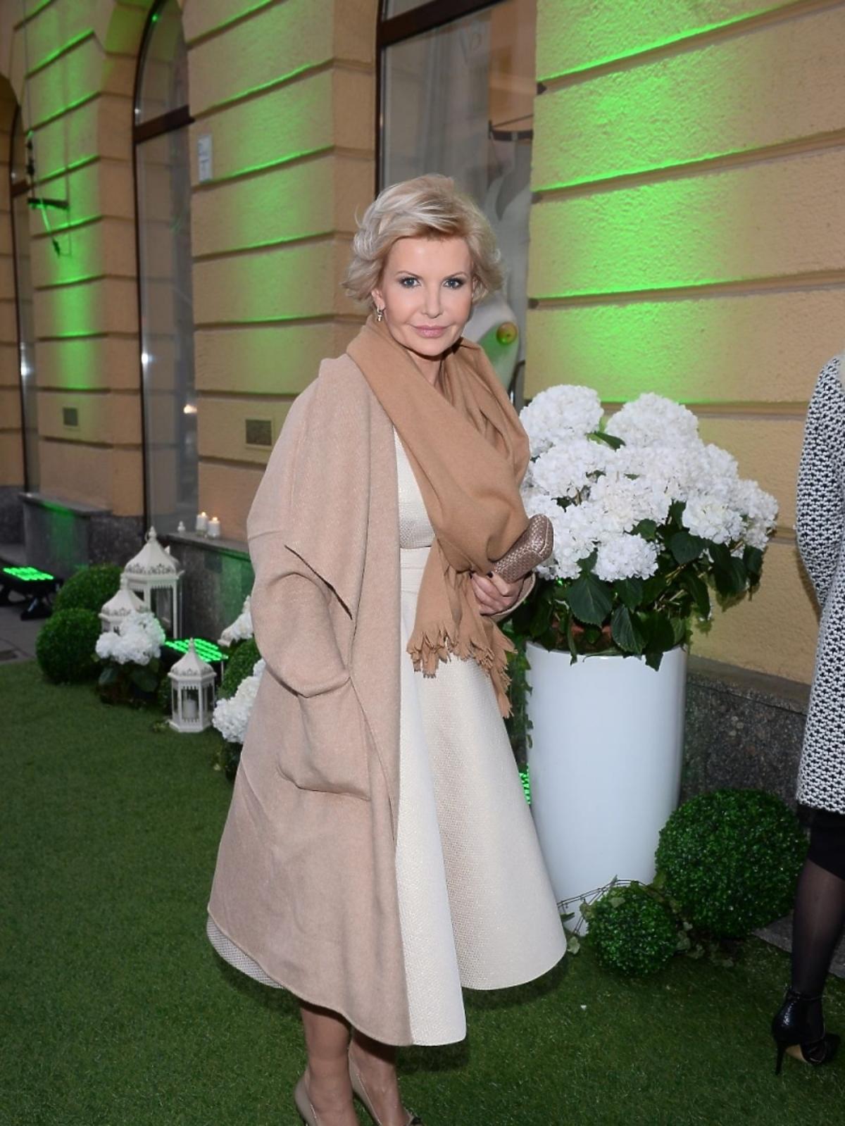 Joanna Racewicz na otwarciu butiku Violi Piekut