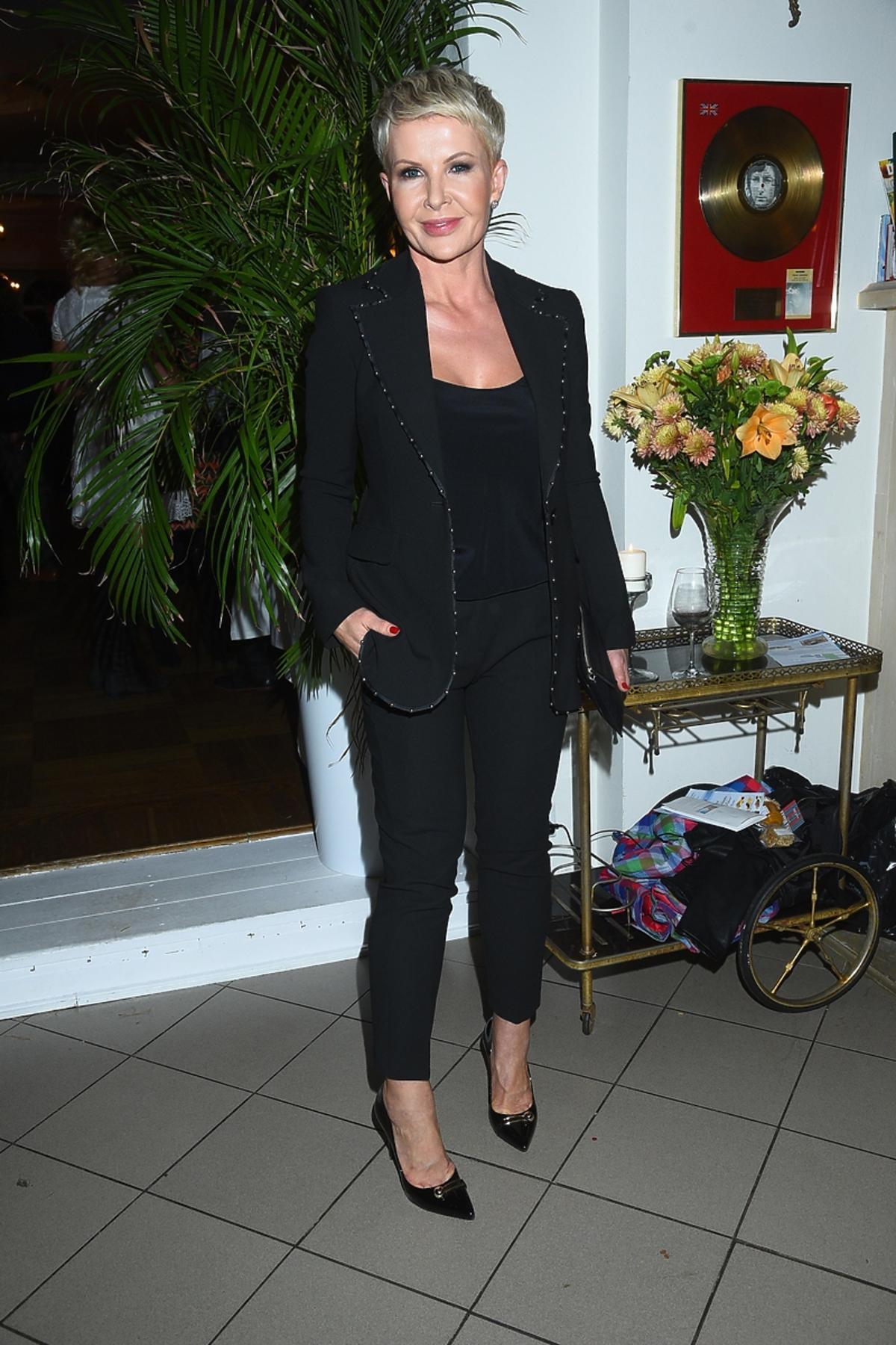 Joanna Racewicz na premierze książki Magdy Gessler