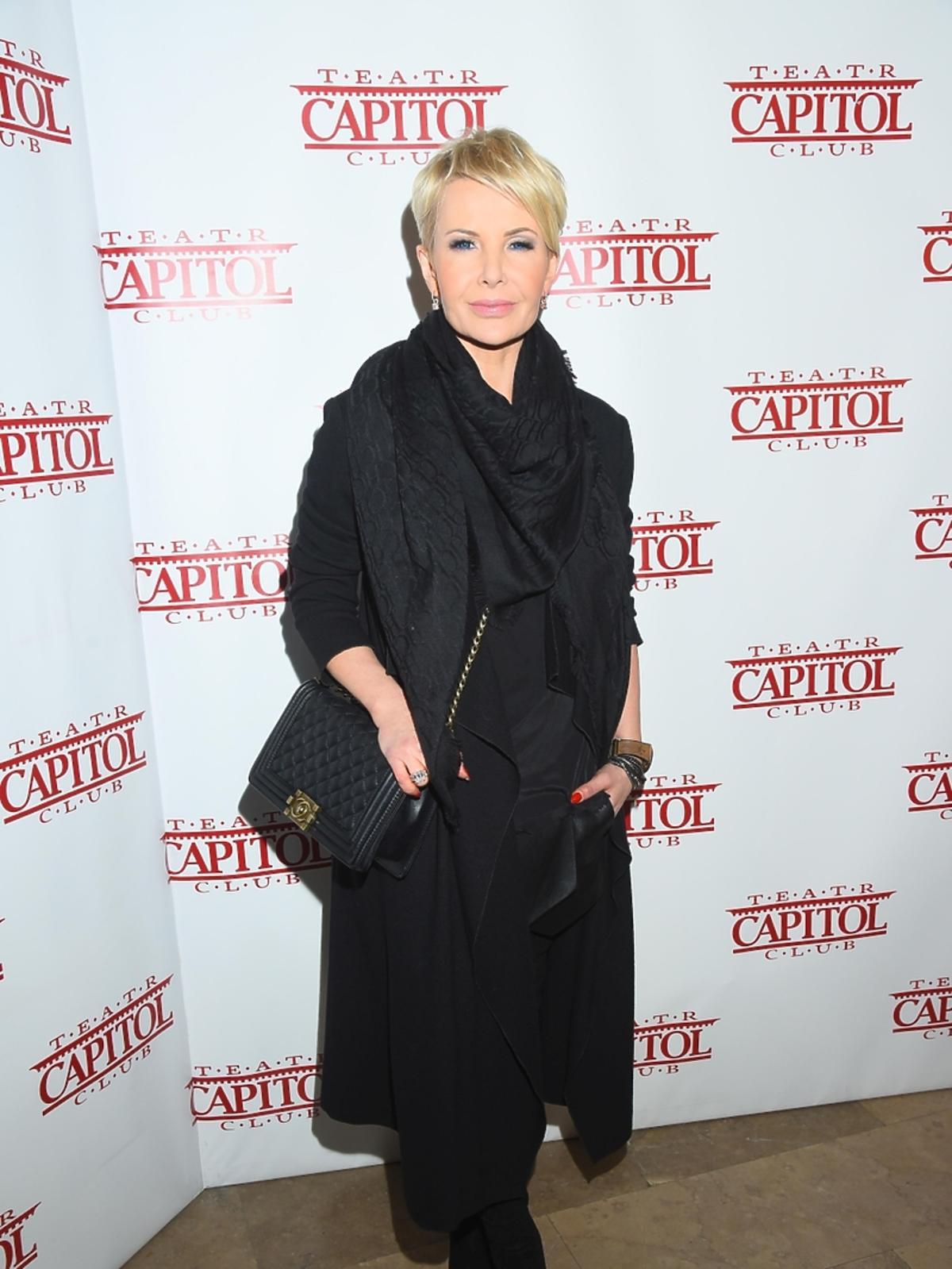 Joanna Racewicz na premierze w Teatrze Capitol