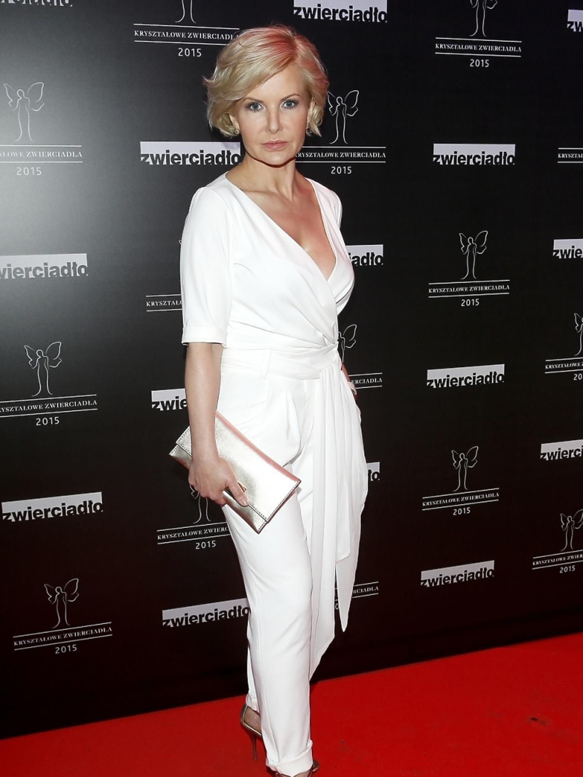Joanna Racewicz na rozdaniu nagród Kryształowe Zwierciadła