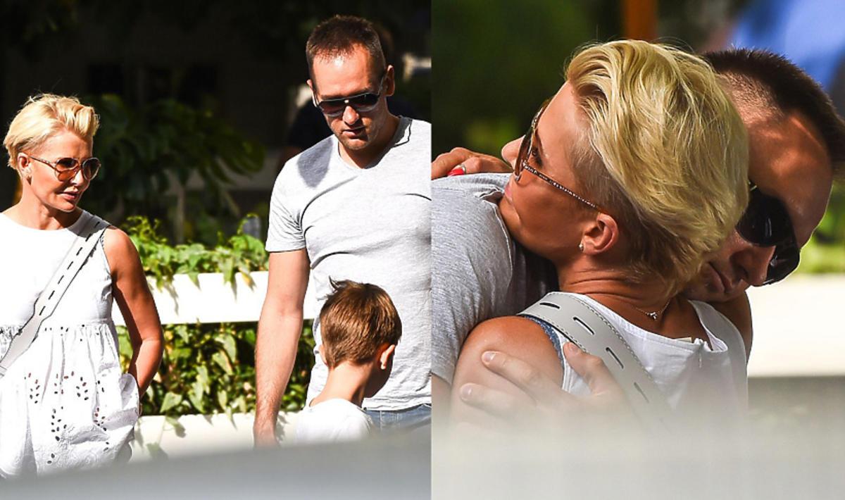 Joanna Racewicz z partnerem i synem