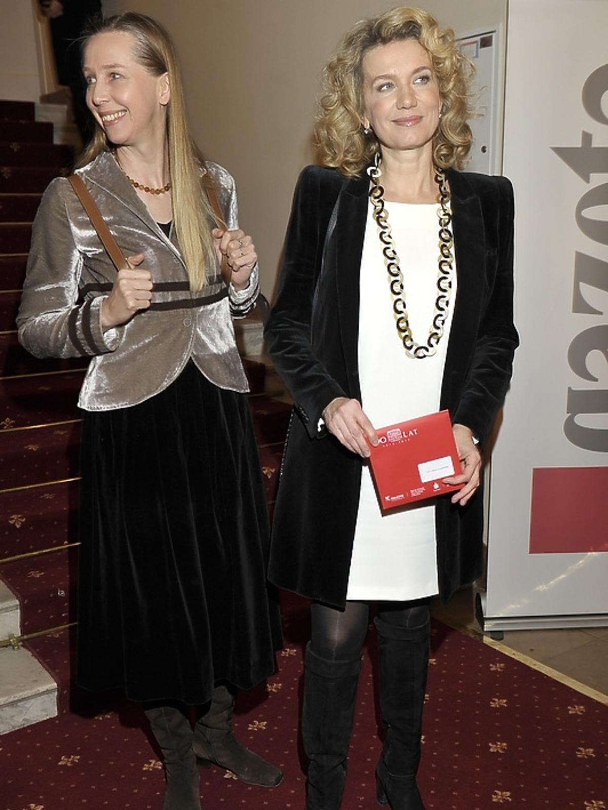 Joanna Szczepkowska na premierze Irydiona na 100 Lat Teatru Polskiego
