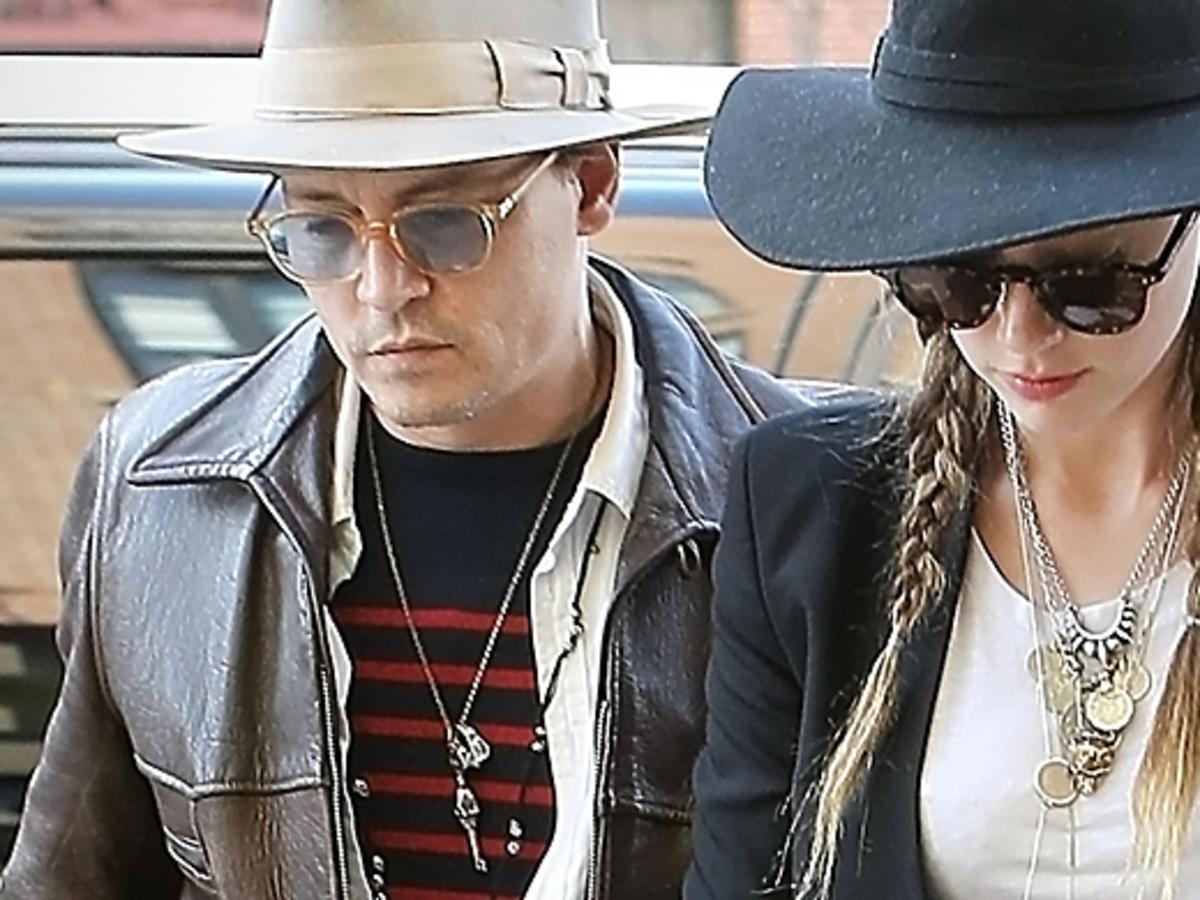 Johnny Deep i Amber Heard w Nowym Jorku
