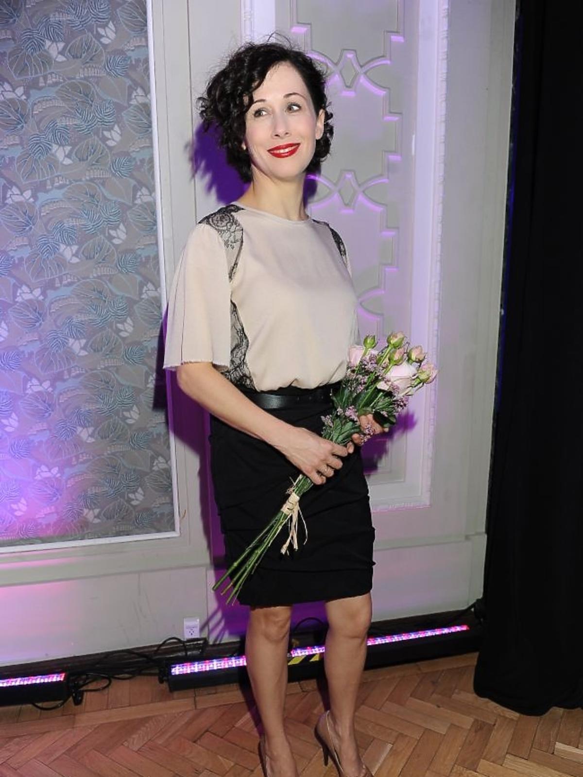 Jolanta Fraszyńska na premierze sztuki