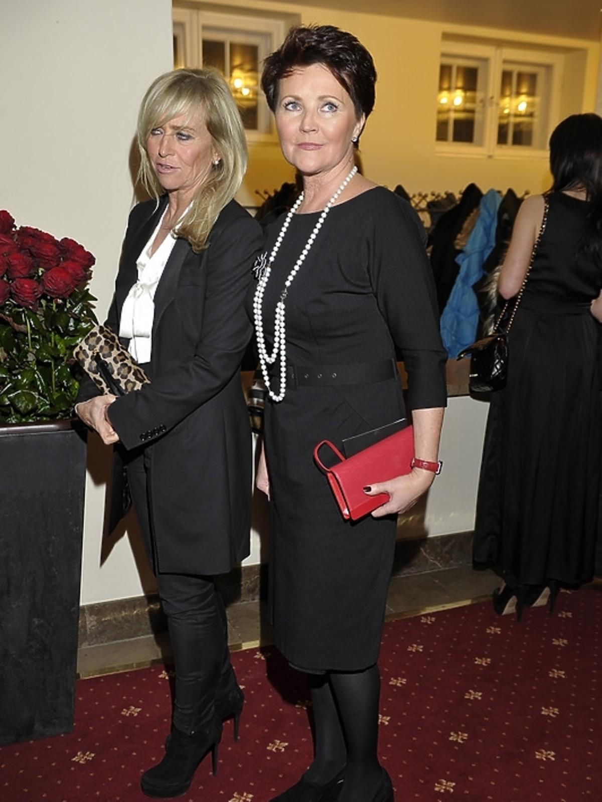 Jolanta Kwaśniewska i Katarzyna Frank-Niemczycka na premierze Irydiona na 100 Lat Teatru Polskiego