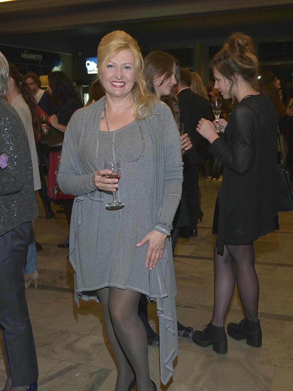 Jolanta Litwin-Sarzyńska na premierze spektaklu
