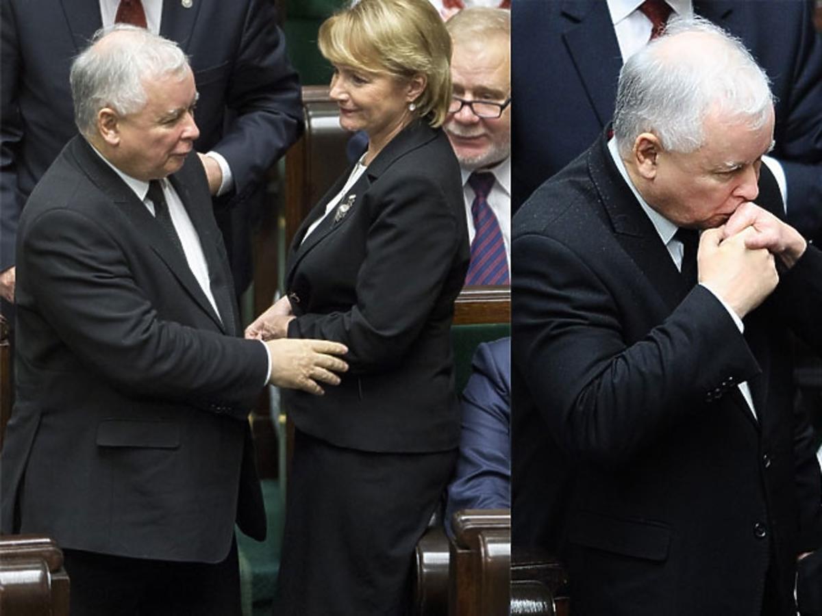 Jolanta Szczypińska, Jarosław Kaczyński witają się