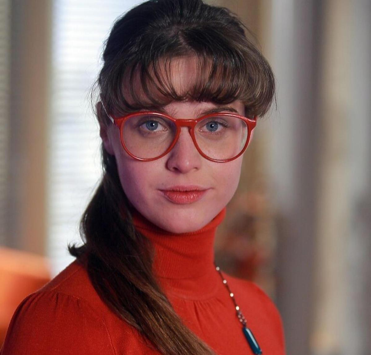 Julia Kamińska na planie serialu