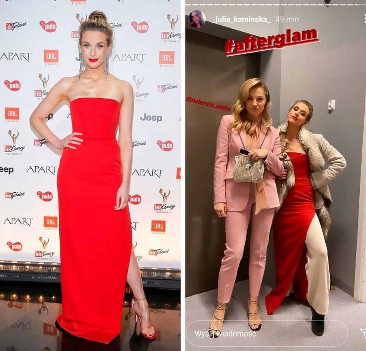 Julia Kamińska w czerwonej sukni