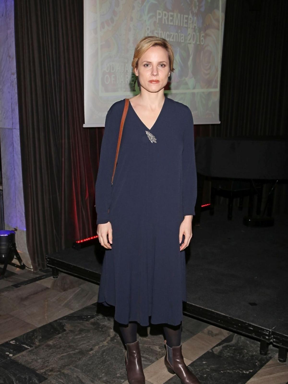 Julia Kijowska na premierze w Och Teatrze