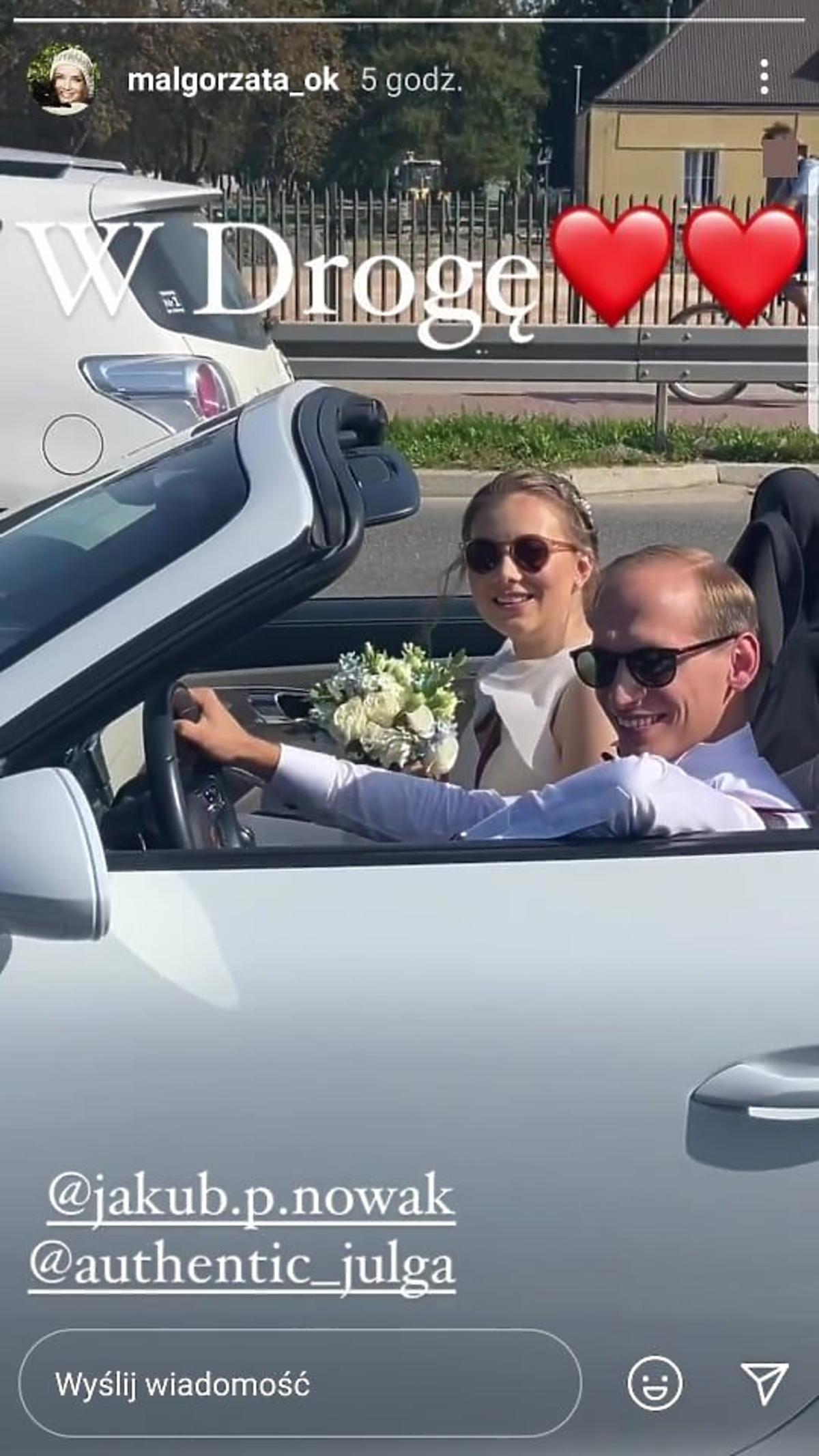 Julia Królikowska z mężem