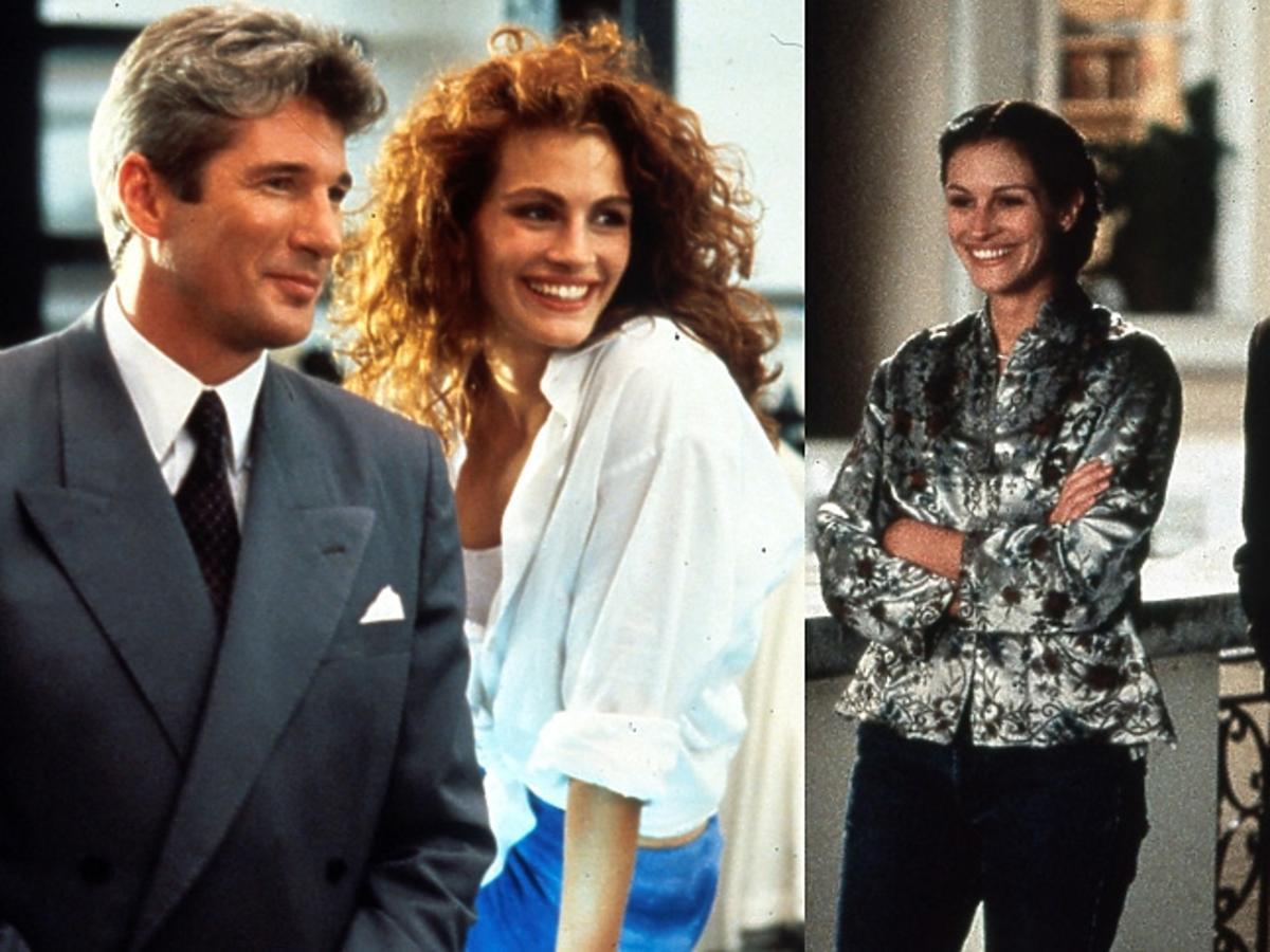 "Julia Roberts i Richard Gere - kadr z filmu ""Pretty Woman"", Julia Roberts i Hugh Grant - kadr z filmu ""Notting Hill"""