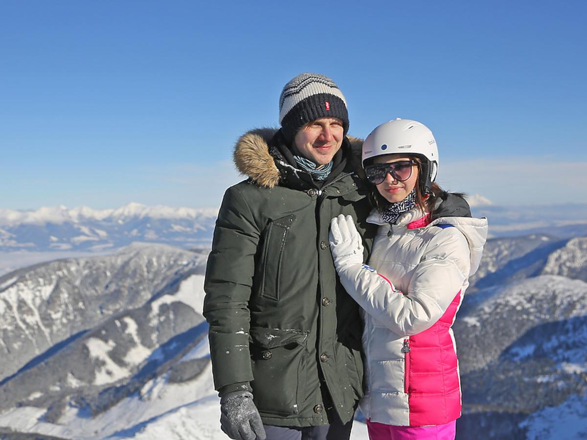 Julia Wieniawa i Antek Królikowski na nartach w Jasna Chopok na Słowacji