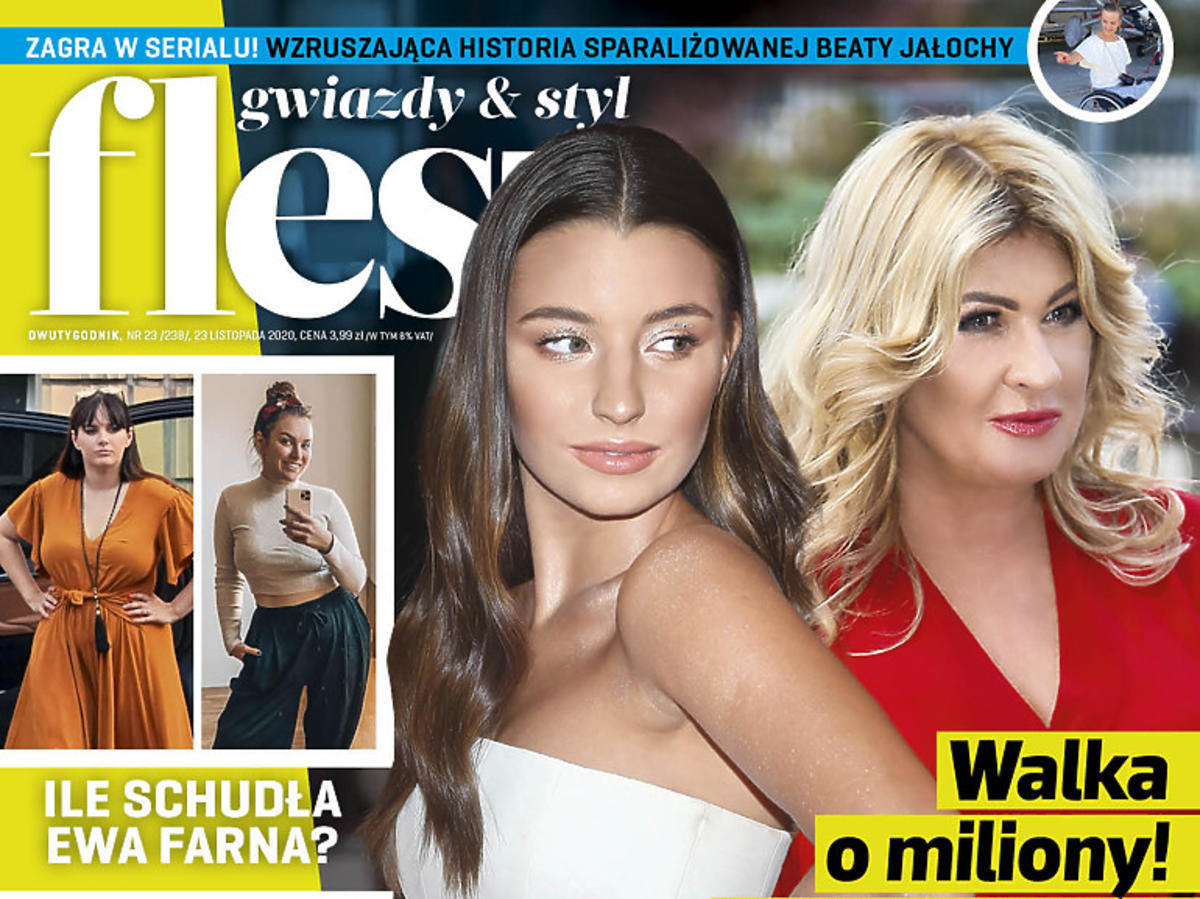 Julia Wieniawa i Beata Kozidrak na okładce Flesza