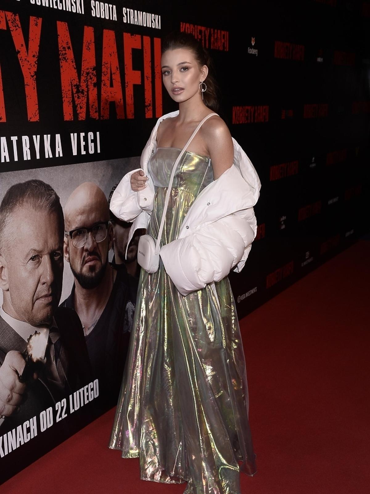 Julia Wieniawa na premierze filmu