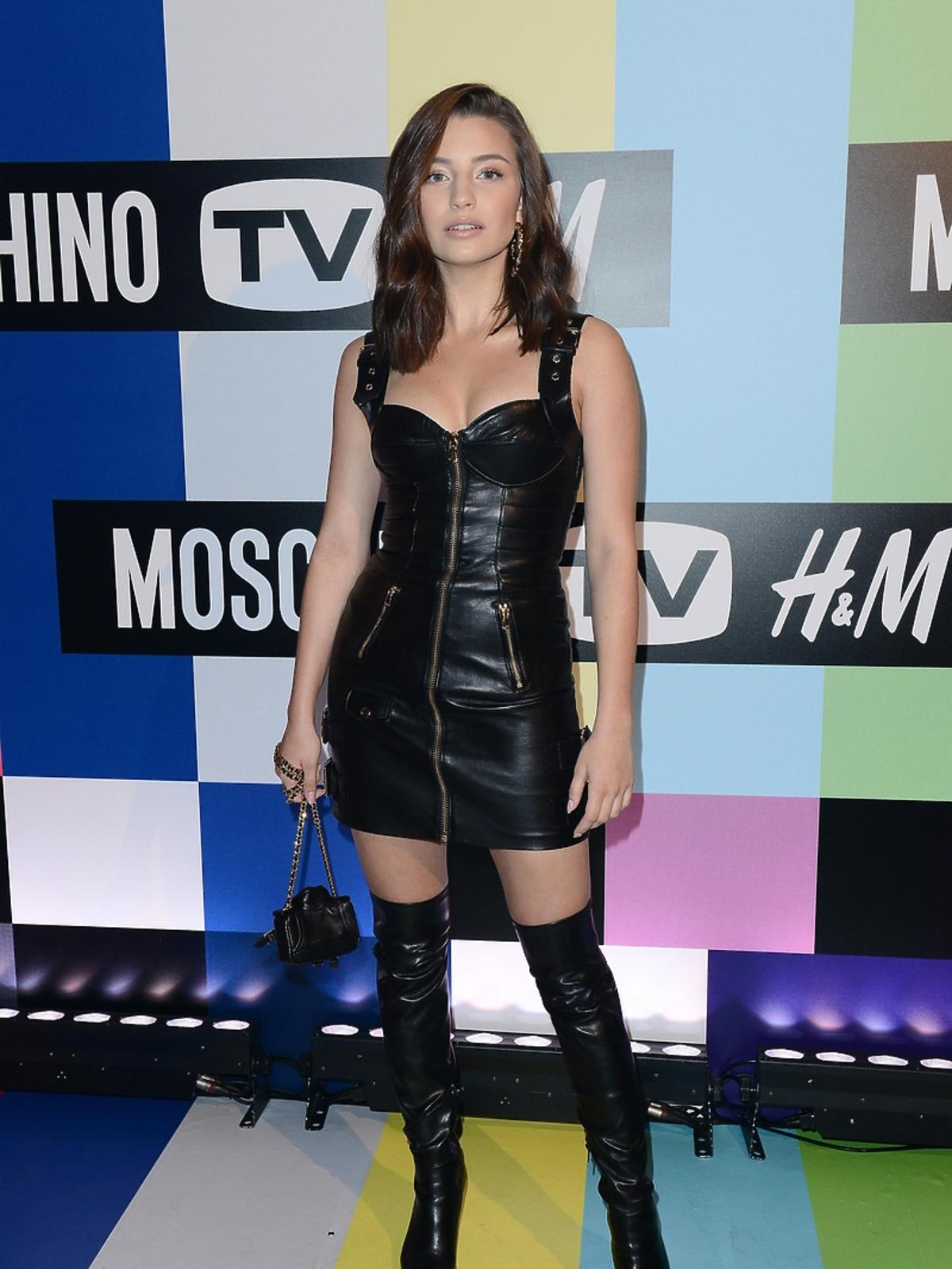 Julia Wieniawa na premierze kolekcji Moschino dla H&M