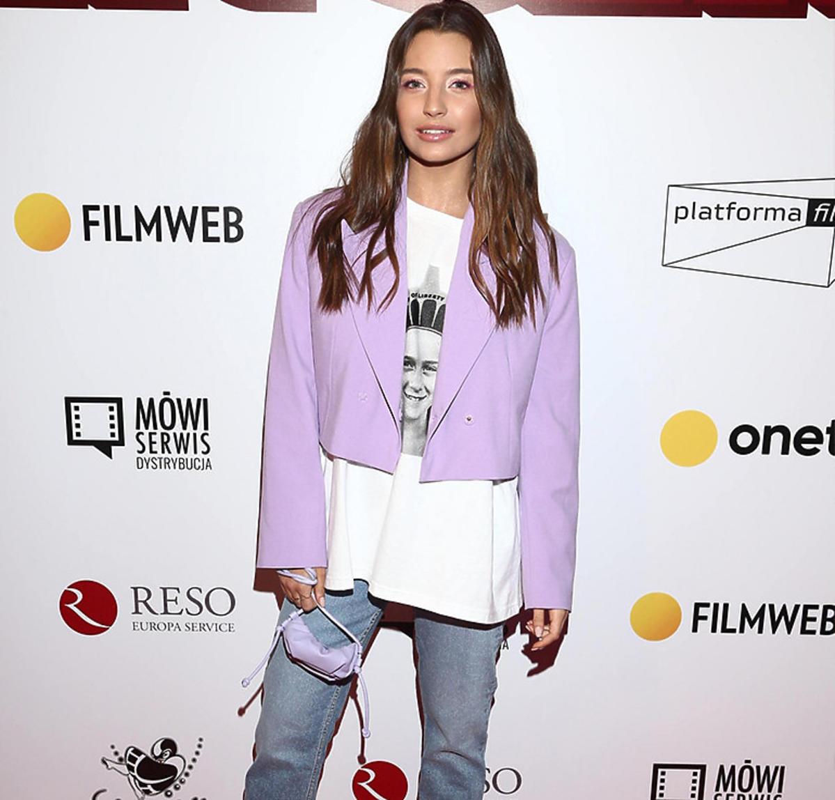Julia Wieniawa na premierze