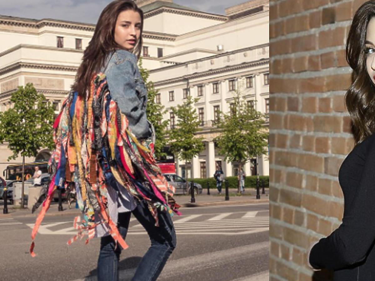 Julia Wieniawa w kurtce z frędzlami