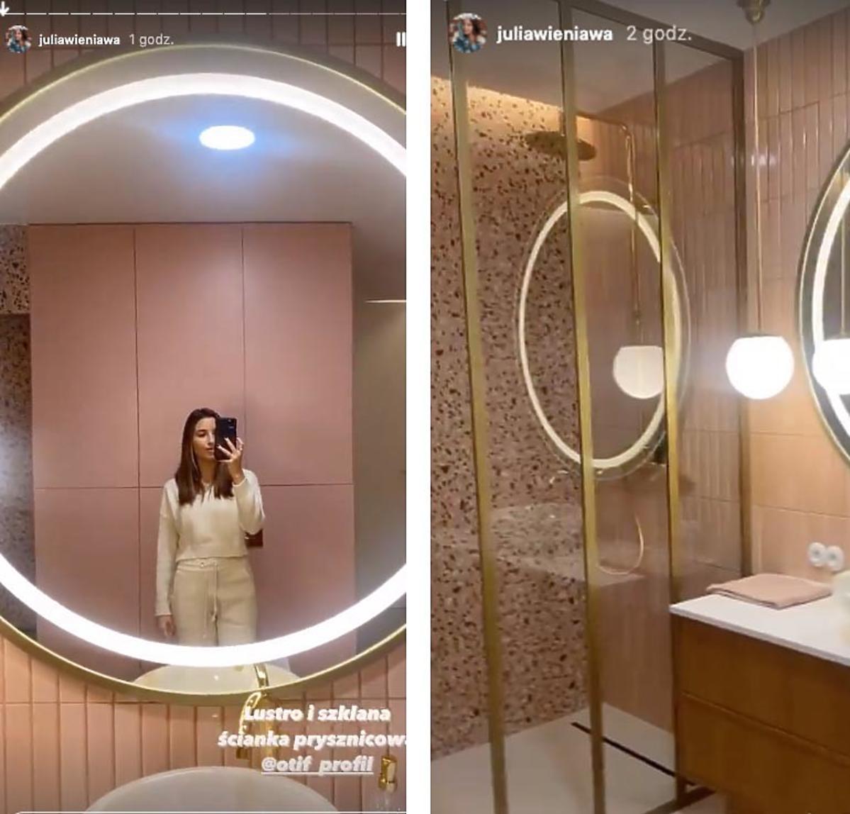 Julia Wieniawa  w łazience