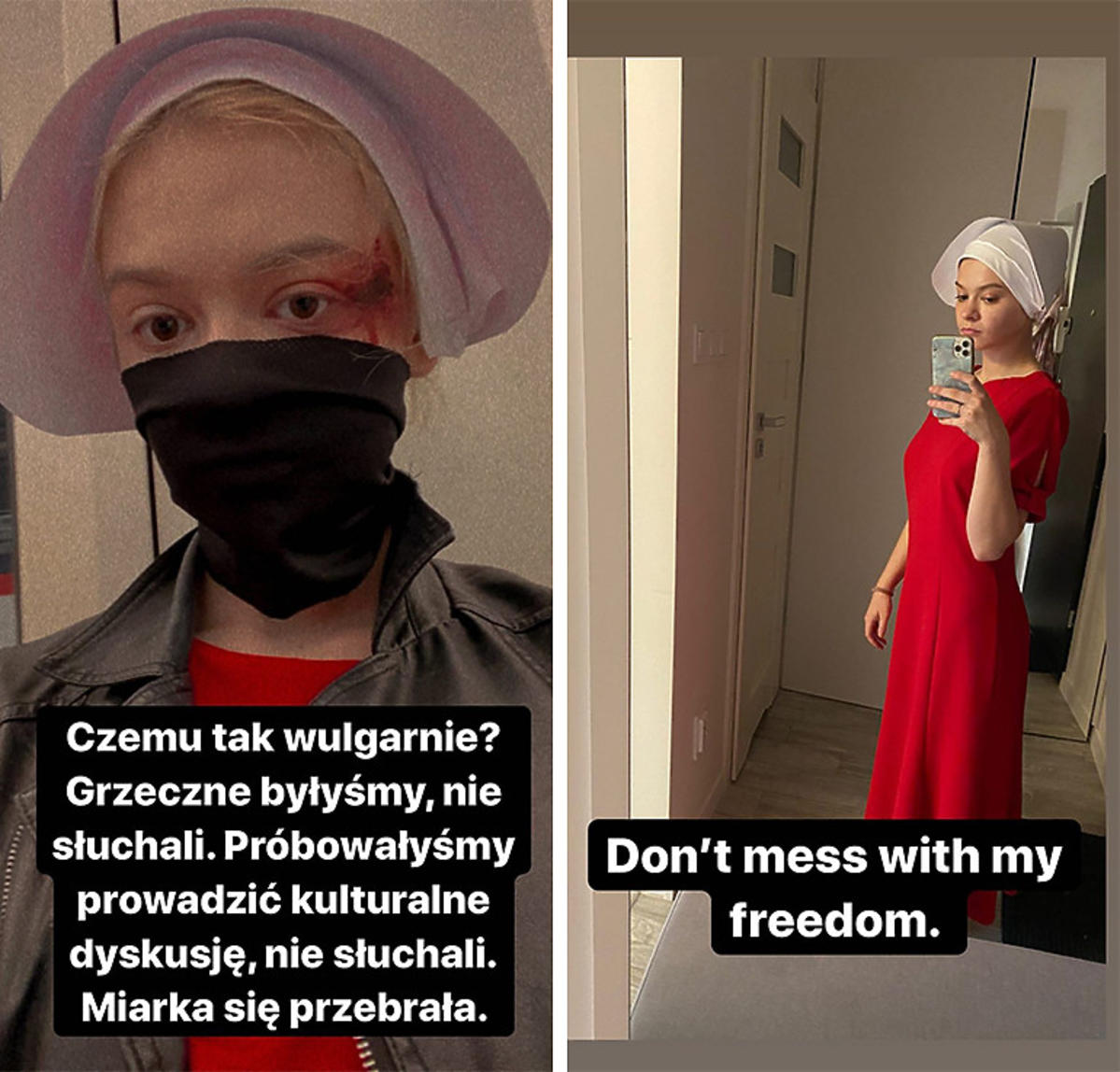Julia Wróblewska w stroju z
