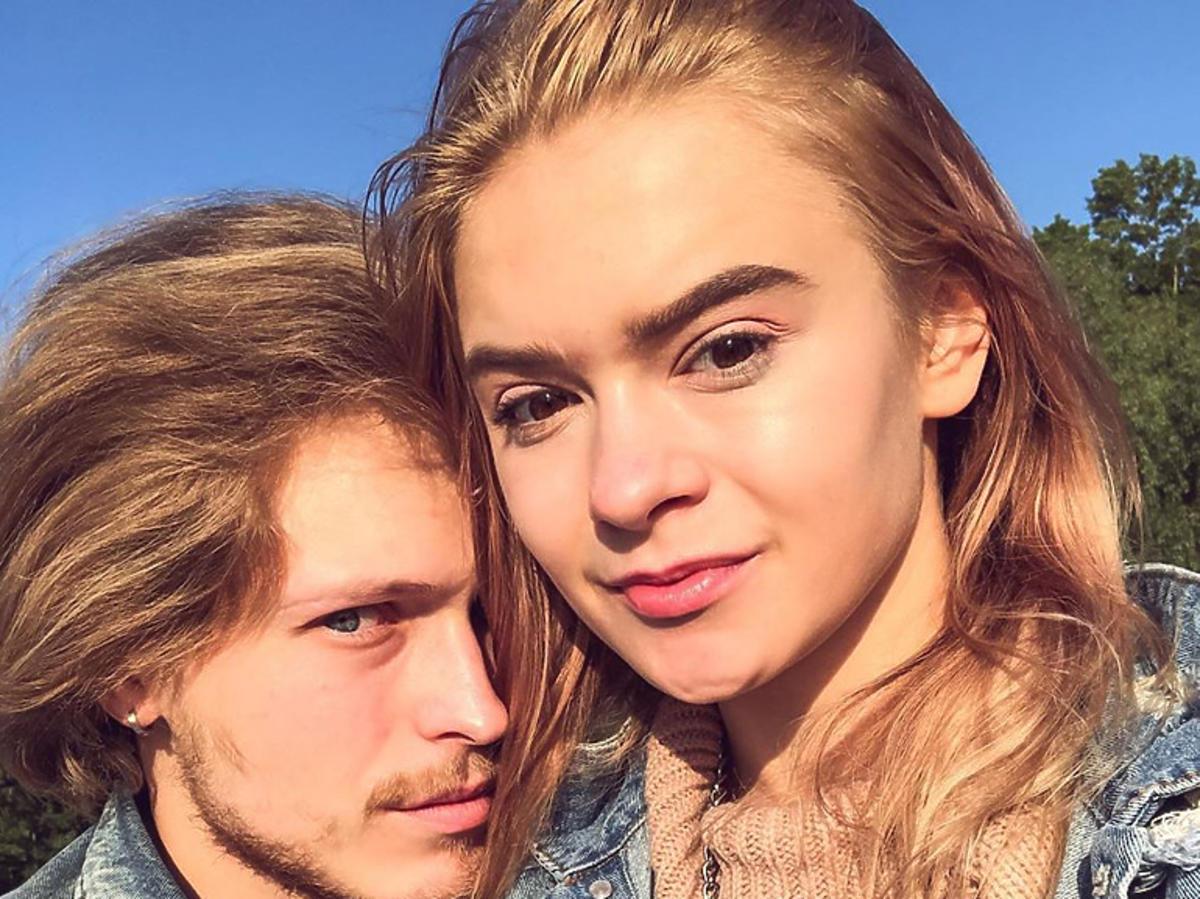 Julia Wróblewska z chłopakiem, Krzyśkiem