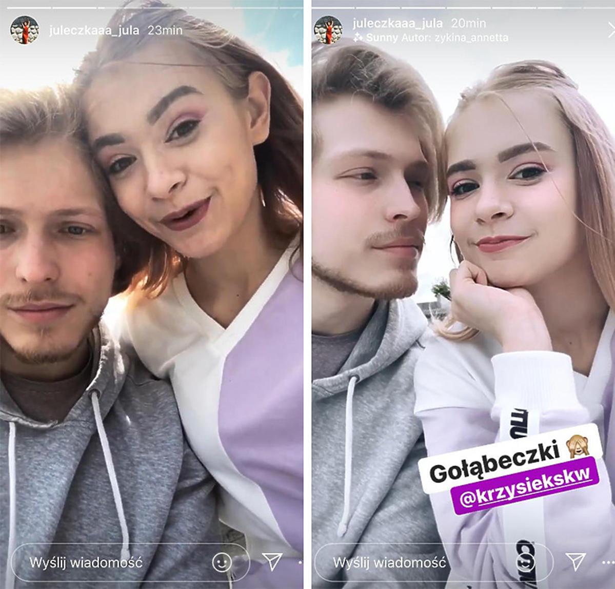 Julia Wróblewska z nowym chłopakiem Krzysztofem
