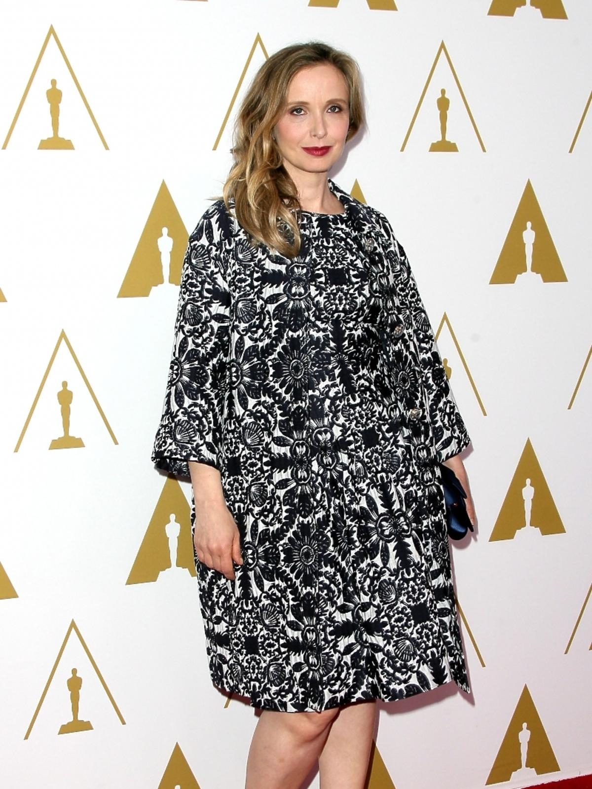 Julie Delpy podczas konferencji prasowej nominacji do Oscarów 2014