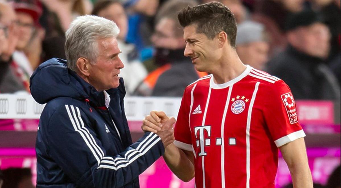Jupp Heynckes trener Bayern Monachium z Lewandowskim