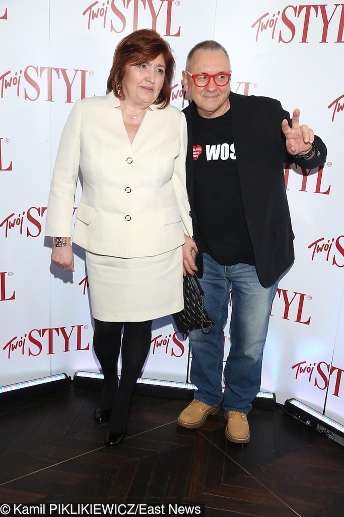 Jurek Owsiak z żoną Lidią na gali Kobieta Roku 2017 Twojego stylu