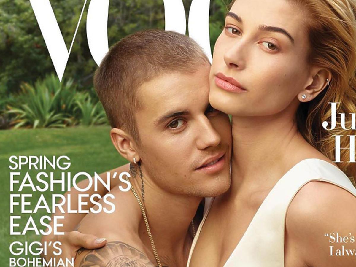 Justin Bieber i Hailey Baldwin na okładce Vogue