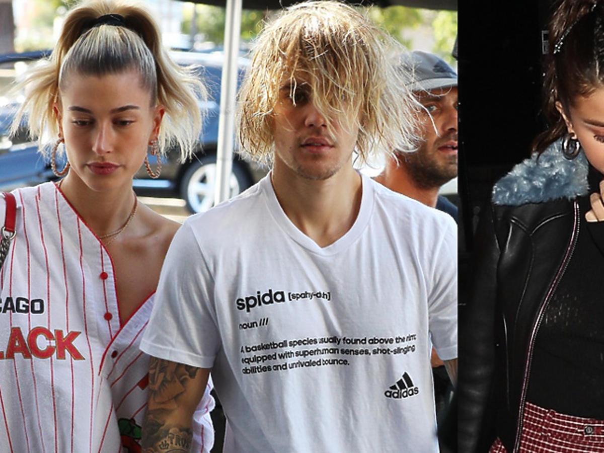 Justin Bieber i Hailey Baldwin na spacerze, Selena Gomez smutna