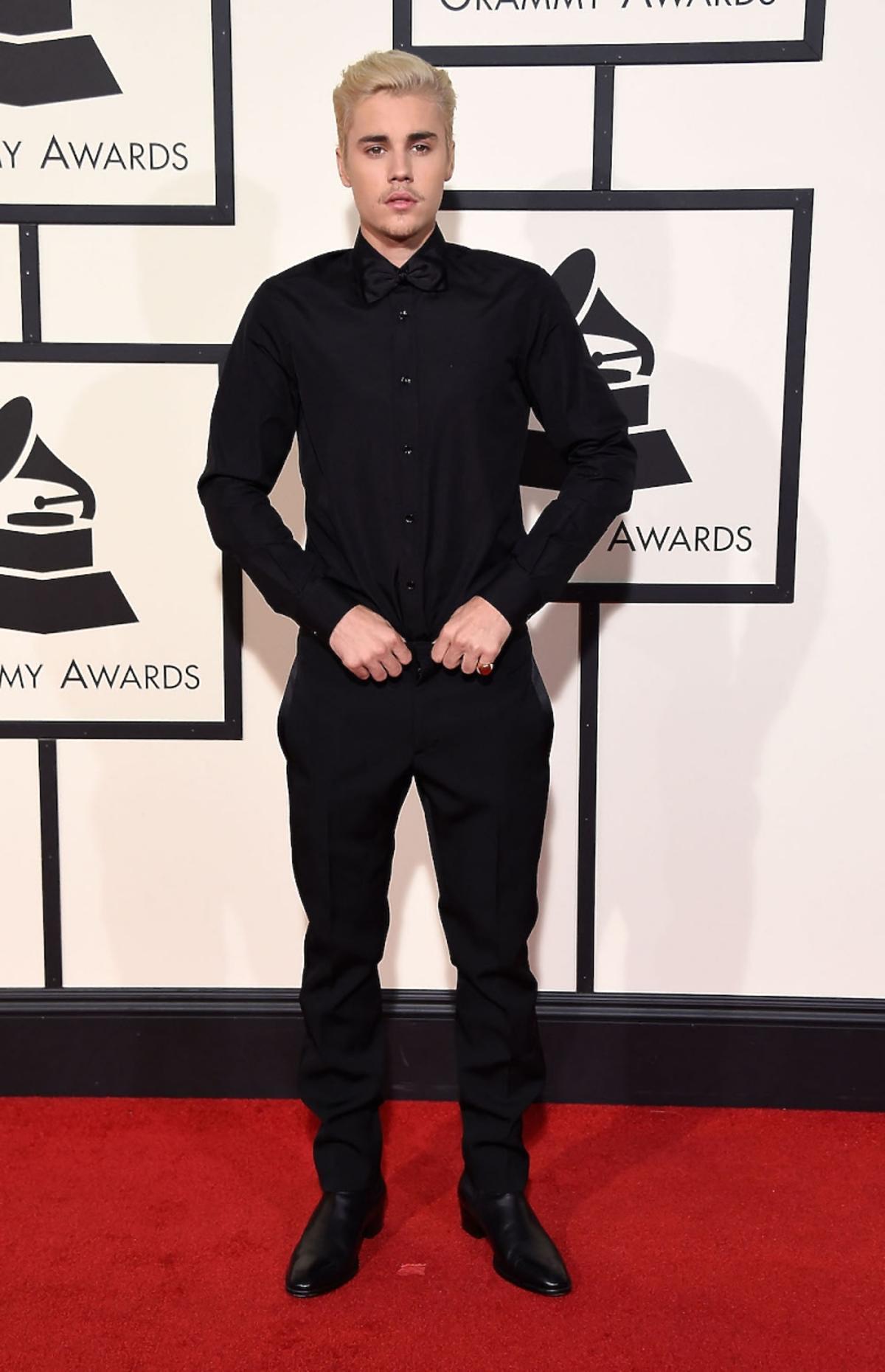 Justin Bieber na gali Grammy 2016