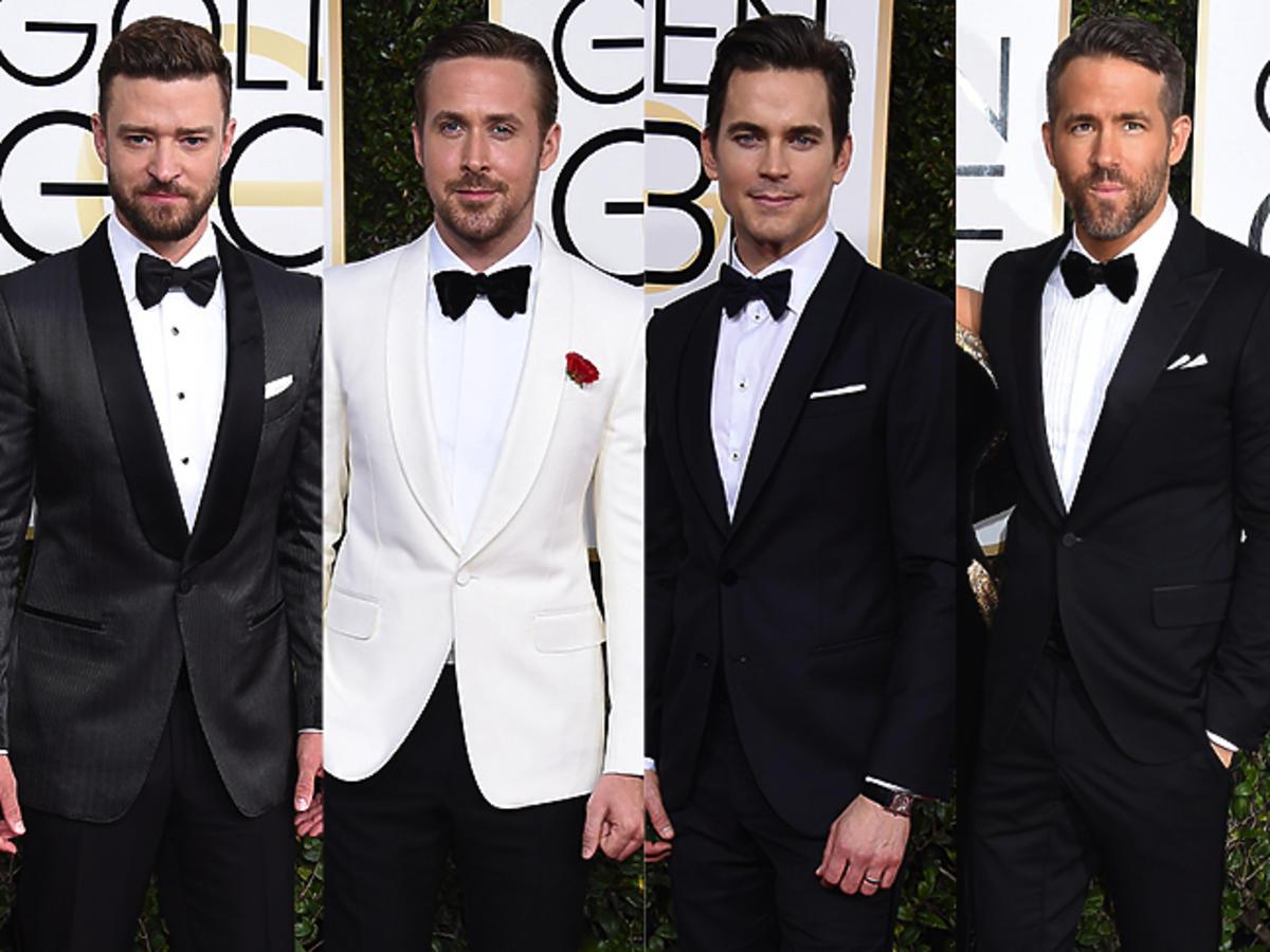 Justin Timberlake, Ryan Gosling, Matt Bomer, Ryan Reynolds, Chris Hemsworth na rozdaniu Złotych Globów 2017