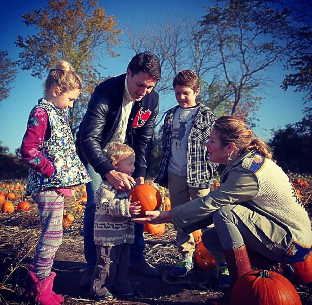 Justin Trudeau z rodziną