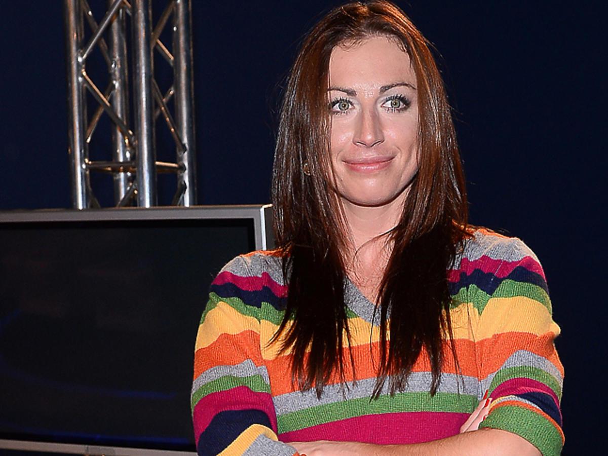 Justyna Kowalczyk w kolorowym swetrze