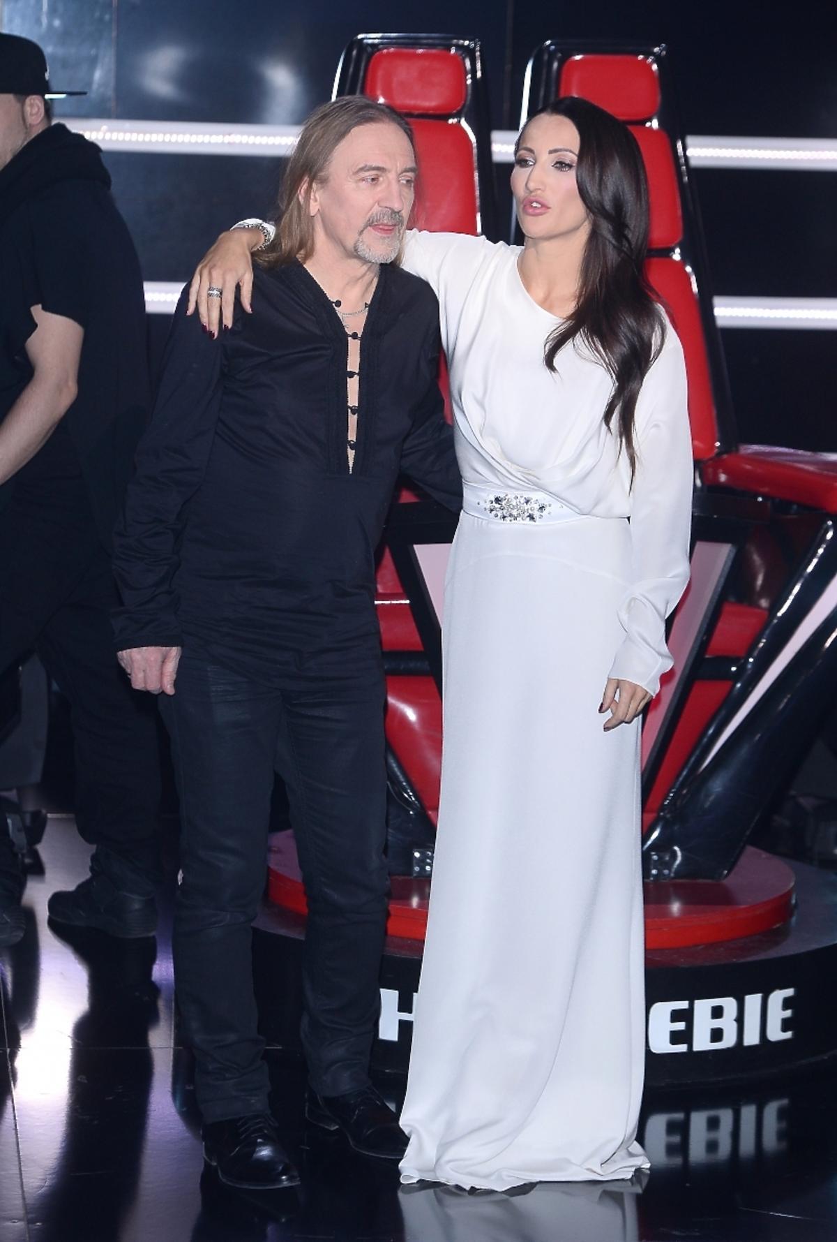 Justyna Steczkowska i Marek Piekarczyk na koncercie charytatywnym The Voice