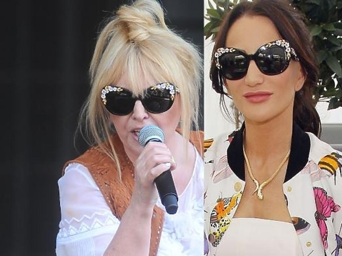 Justyna Steczkowska i Maryla Rodowicz w takich samych okularach